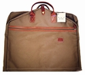 White Wing Canvas & Leather Hanging Garment Bag (Tan)