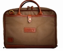 White Wing Canvas & Leather Briefcase (Tan)