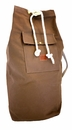White Wing Canvas & Leather Laundry Bag (Tan)