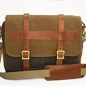 White Wing Messenger Bag - Green & Tan
