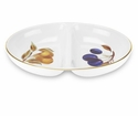 "Royal Worcester Evesham Gold 11.5"" Divided Dish"
