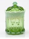 Mosser Glass Cherry Tobacco Jar - Green Opal