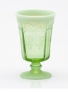 Mosser Glass Cherry Goblet - Green Opal