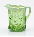 Mosser Glass Cherry Pitcher - Green Opal