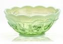Mosser Glass Cherry Bowl - Green Opal