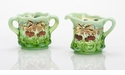 Mosser Glass Cherry Sugar Bowl - Green Opal Decorated