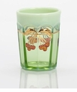 Mosser Glass Cherry Tumbler - Green Opal Decorated