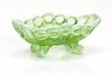 Mosser Glass Eye Winker Jam Jar - Green Opal