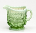 Mosser Glass Eye Winker Creamer Pitcher - Green Opal