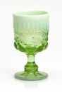 Mosser Glass Eye Winker Goblet - Green Opal