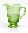 Mosser Glass Eye Winker Pitcher - Green Opal
