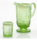 Mosser Glass Panel Grape Pitcher - Green Opal