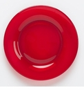 "Mosser Glass 8"" Red Salad Plate"