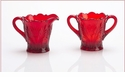 Mosser Glass Thistle Creamer Pitcher - Red