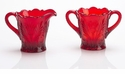 Mosser Glass Thistle Sugar Bowl - Red