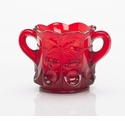 Mosser Glass Cherry Sugar Bowl - Red