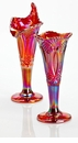 Mosser Glass Diamond Classic Vase - Red Carnival