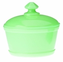 Mosser Glass Butter Tub - Jade