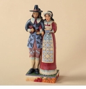 Jim Shore Two Sided Pilgrims & Indians Forging Friendships Figurine