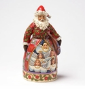 Jim Shore Santa Hark the Herald Angels Sing Figurine