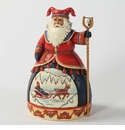 Jim Shore Dashing to a Merry Celebration Lapland Santa Figurine