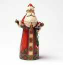 Jim Shore Classic Santa with Ornaments Make Your Spirit Bright Figurine