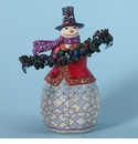 Jim Shore Heartwood Creek Evergreen Snowman Figurine