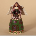 Jim Shore Heartwood Creek Christmas Angel with Wreath Figurine