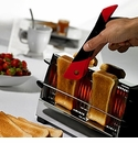 Orka Toast Tongs - Red