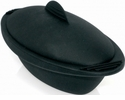 Orka Oval  Silicone Steam Cooker 20 Oz. Black