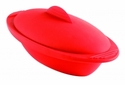 Orka Oval  Silicone Steam Cooker 20 Oz. Red