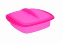 Orka Square Silicone Steamer 33 Oz. Raspberry