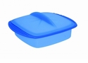 Orka Square Silicone Steamer 42 Oz. Blue
