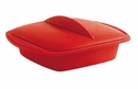 Orka Square Silicone Steamer 42 Oz. Red