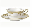 Spode Stafford White 7 Ounce Tea Cup & Saucer set
