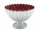 "Julia Knight Peony 14.5"" Pedestal Gala Bowl - Pomegranate"