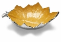 "Julia Knight Grape Leaf 13"" Bowl - Saffron"