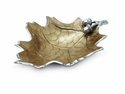 "Julia Knight Oak Leaf 15"" Bowl - Toffee"