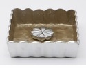 "Julia Knight Peony 5"" Cocktail Napkin Holder - Toffee"