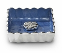 "Julia Knight Peony 5"" Cocktail Napkin Holder - Azure"