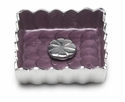 "Julia Knight Peony 5"" Cocktail Napkin Holder - Amethyst"