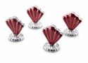 Julia Knight Peony Place card Holder Set of 4 - Pomegranate