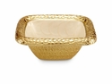 "Julia Knight Florentine 6.25"" Square Gold Bowl - Snow"
