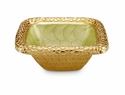 "Julia Knight Florentine 6.25"" Square Gold Bowl - Kiwi"
