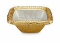 "Julia Knight Florentine 6.25"" Square Gold Bowl - Hydrangea"