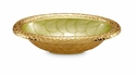 "Julia Knight Florentine 8"" Oval Gold Bowl - Kiwi"