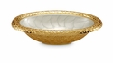 "Julia Knight Florentine 8"" Oval Gold Bowl - Hydrangea"