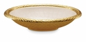 "Julia Knight Florentine 15"" Oval Gold Bowl - Snow"