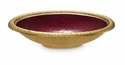 "Julia Knight Florentine 15"" Oval Gold Bowl - Pomegranate"