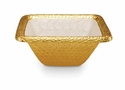 "Julia Knight Florentine 10"" Square Gold Bowl - Snow"